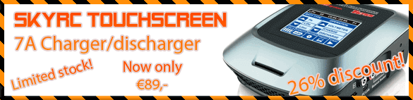 26% discount on SkyRC touchscreen charger!